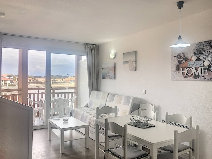 VIEUX BOUCAU, 2-BR apartment, residence with pool