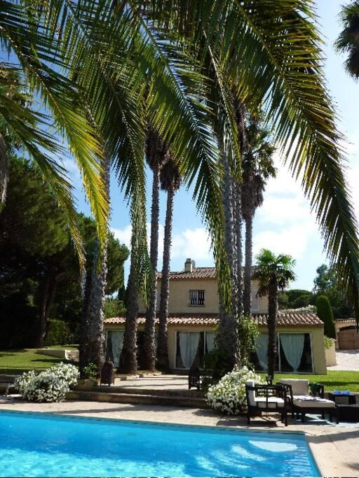 La Maison form the pool