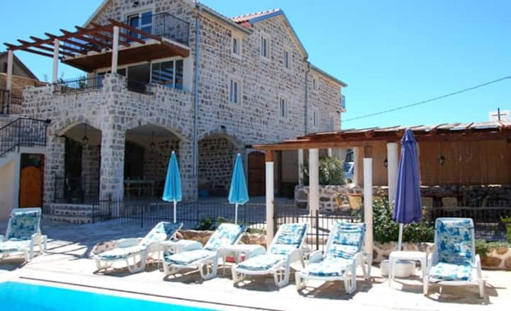 Luxury Stone Villa with private pool and sea views