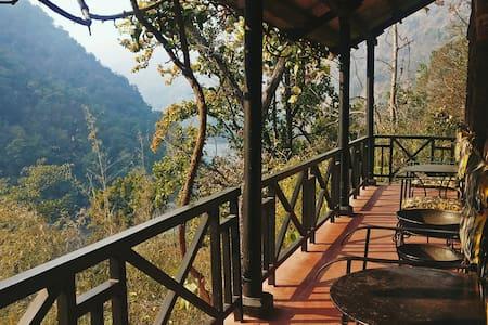 Cabin In The Himalayan Foothills Overlooking Ganga