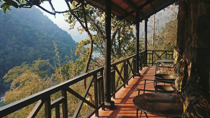 Cabin In The Himalayan Foothills Overlooking Ganga