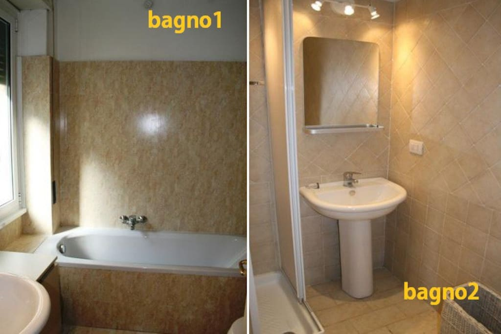 Bagno 1 is the private bathroom of the room of the post