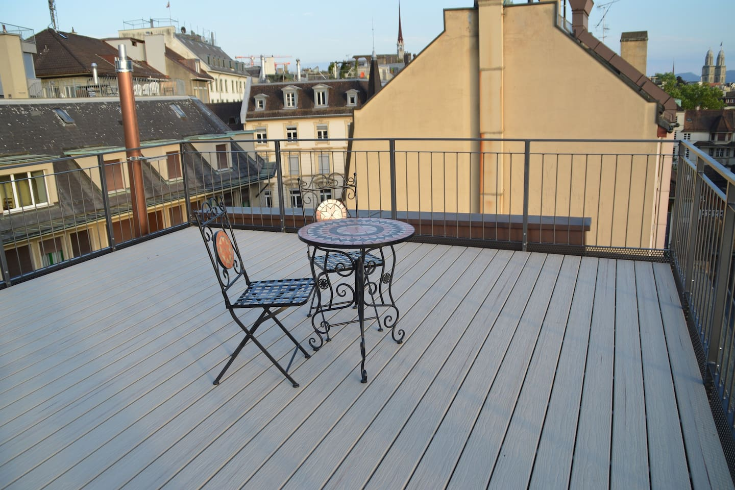 Large private terrace