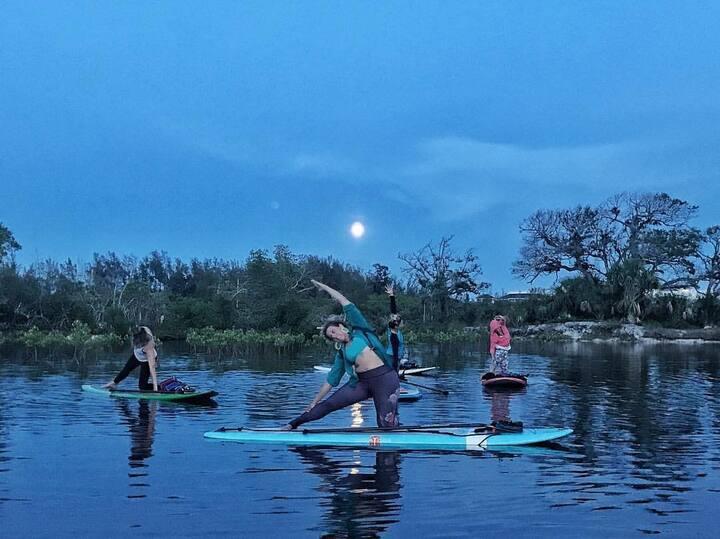 yoga under the full moon