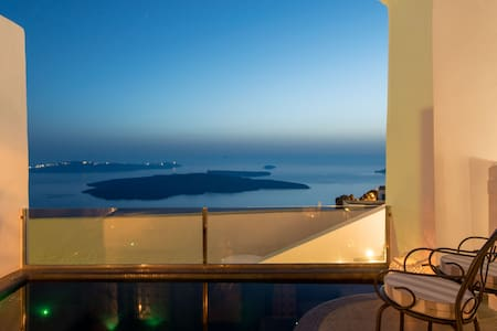 King Suite with outdoor plunge pool - Imerovigli - Hotel butik