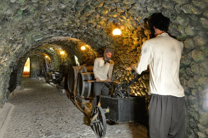 CAVE STONE TUNNEL @ Wine Museum.