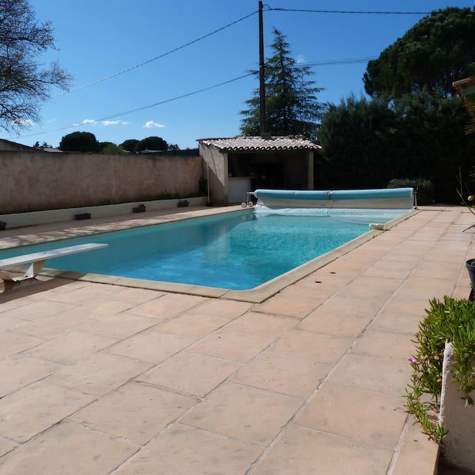 espace détente piscine