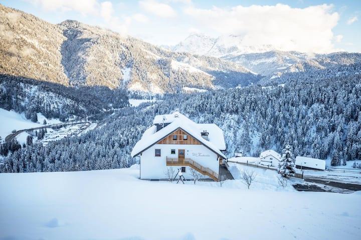 "Holiday Home ""Ciasa Funtanies Pütia"" with Mountain View, Balconies, Shared Garden & WiFi; Parking Available"