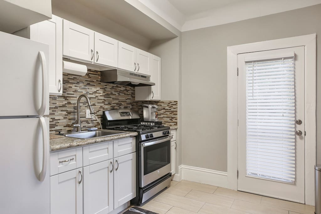 Kitchen has all amenities needed to prepare meals for you and your guests.