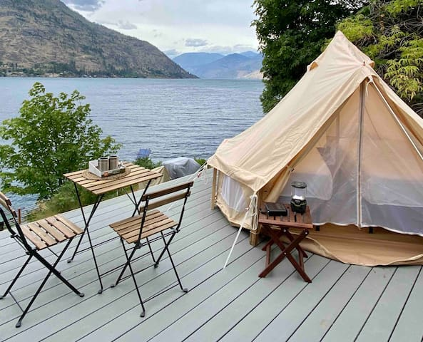 Chelan Waterfront Off-Grid Tent #1. 18+, 4WD Req.