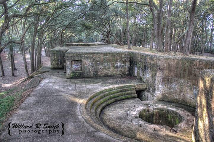 Historic Fort Fremont, Spanish-American War Fort on St. Helena Island 25 Min Away