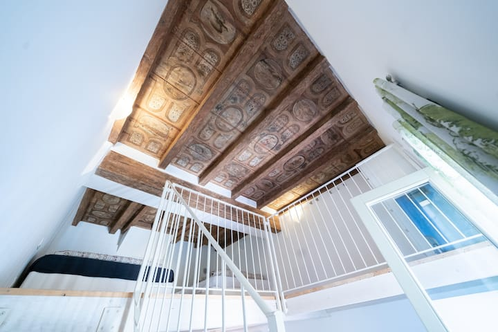 Frescoed Loft in the city center - TIRO Bologna