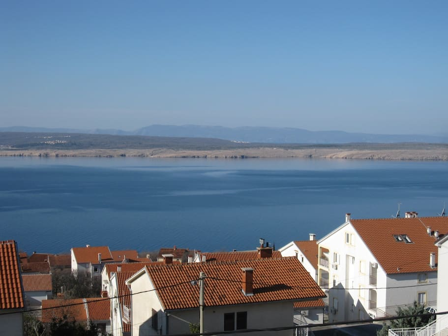 Beautiful view of the island Krk and Kvarner bay