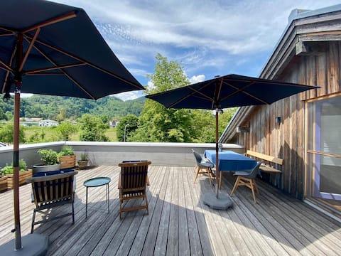 Schöne Ferienwohnung mit toller Dachterrasse