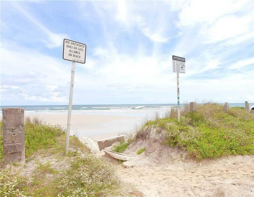 Beach access across the street - Just walk across the dune and be ready to enjoy long walks, beach combing, sunbathing and ocean