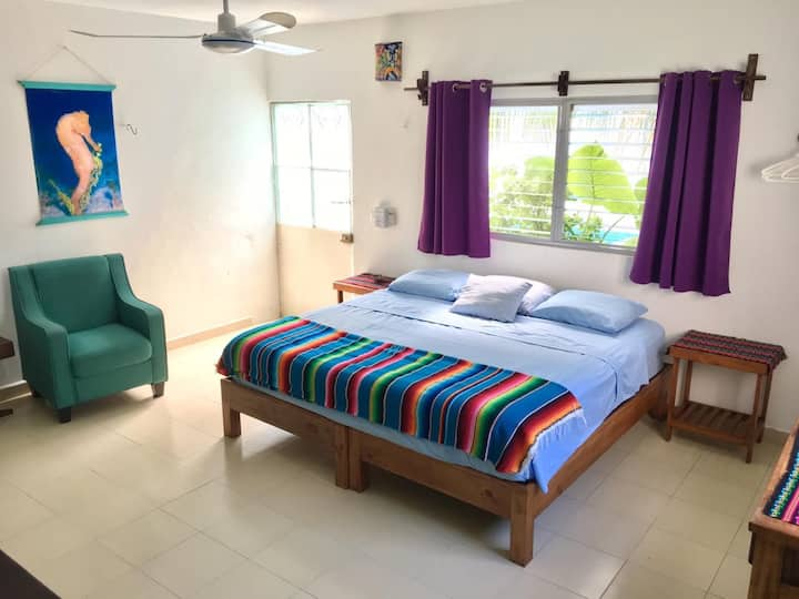 ⭐️Beautiful, New, Comfy APT-DT Cozumel+pool/garden