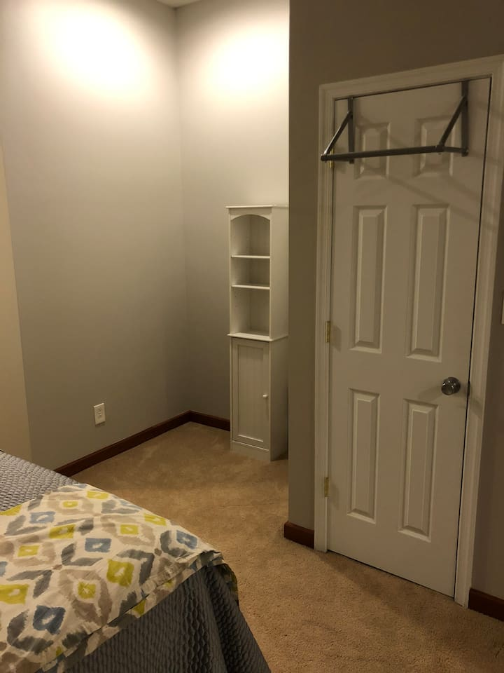 Basement hanging space and small storage area