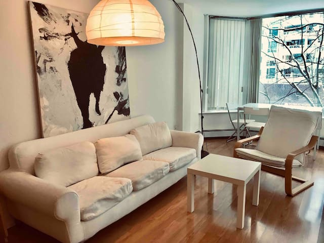 *FRESH!* Designer-White 1br 1ba DT Entire Apt