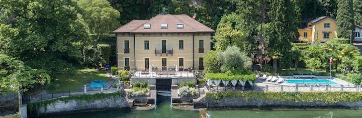 Lake Como aircond Villa with pool,Jacuzzi,boat