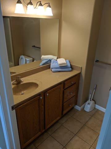 East bathhroom off of bedroom.