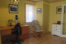 Living room with writing desk