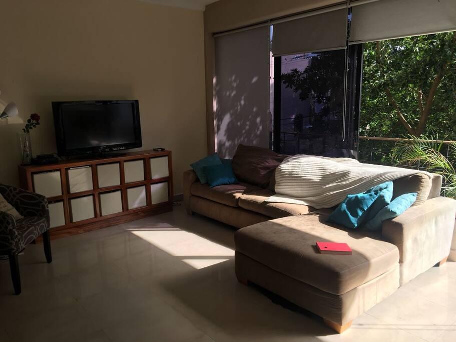 Living room with lounge sofa