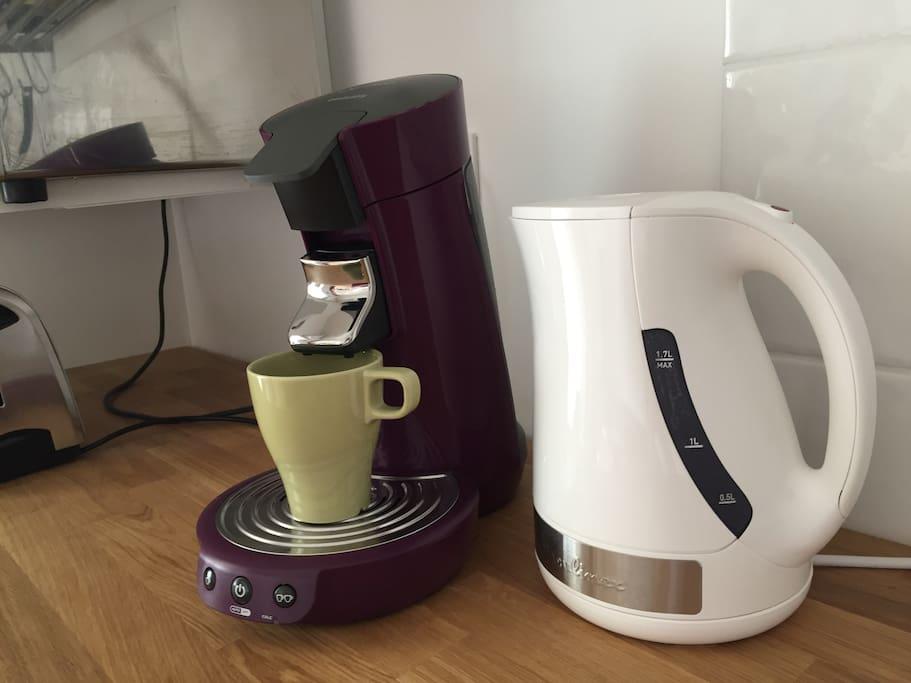 Machine à Café Senso et bouilloire