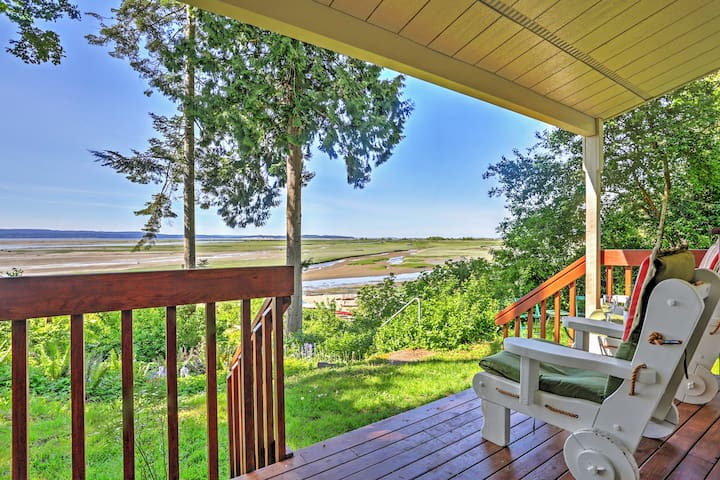 Enjoy expansive views of Puget Sound from your private covered deck.