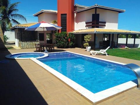 Casa de Praia 4/4 - Hidro - Cascata - Vista p/ Mar