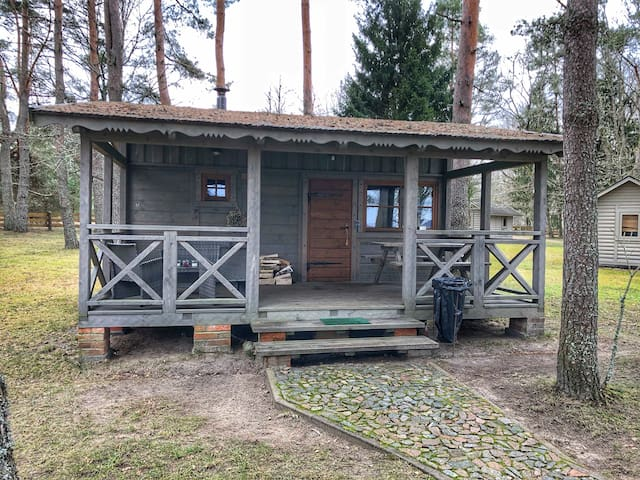 Bungalow with sauna for two people.