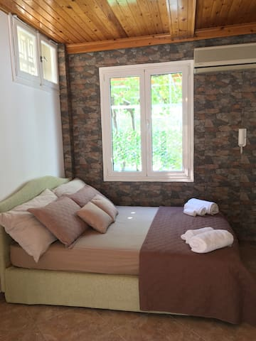 Comfy Double Bed & air conditioner (AC).