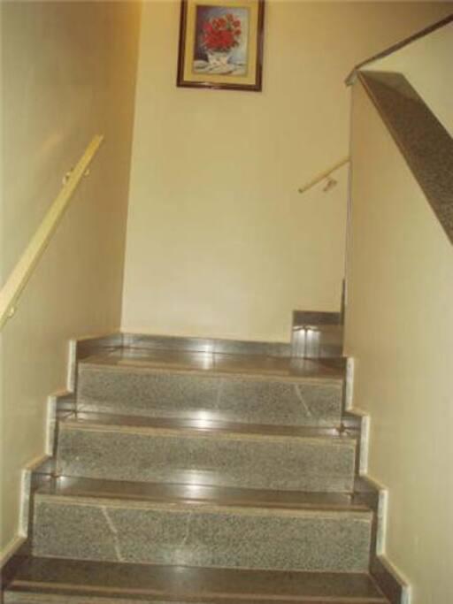 Uso de  escadas