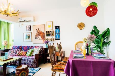 假装在波西米亚 | CBD高层3卧室 近太古汇、天环、正佳、岗顶、华师 吃吃吃 买买买 - Guangzhou