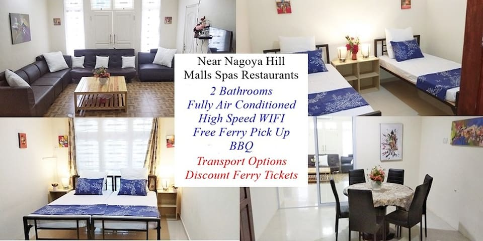 Nagoya Hill 4 - 8 pax - Free Transport