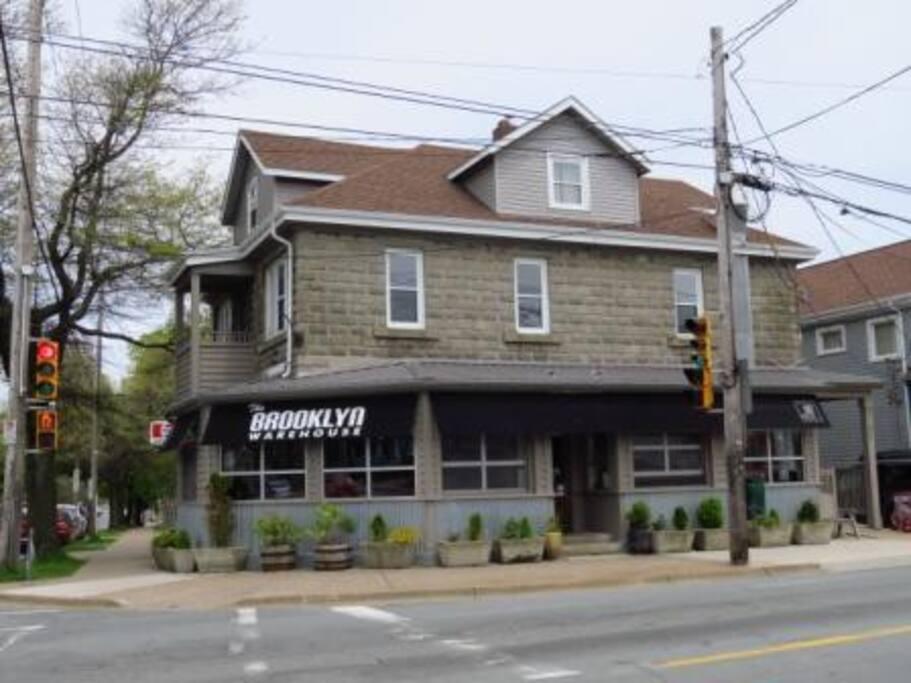 Above one of the best restaurants in Halifax