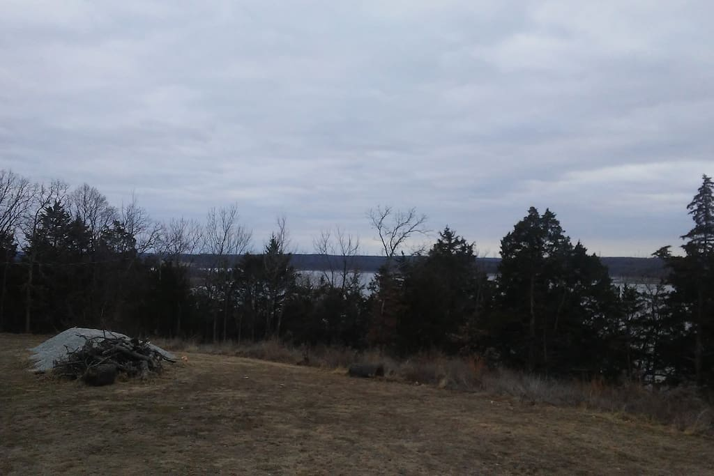 Looking at the Lake from the front porch
