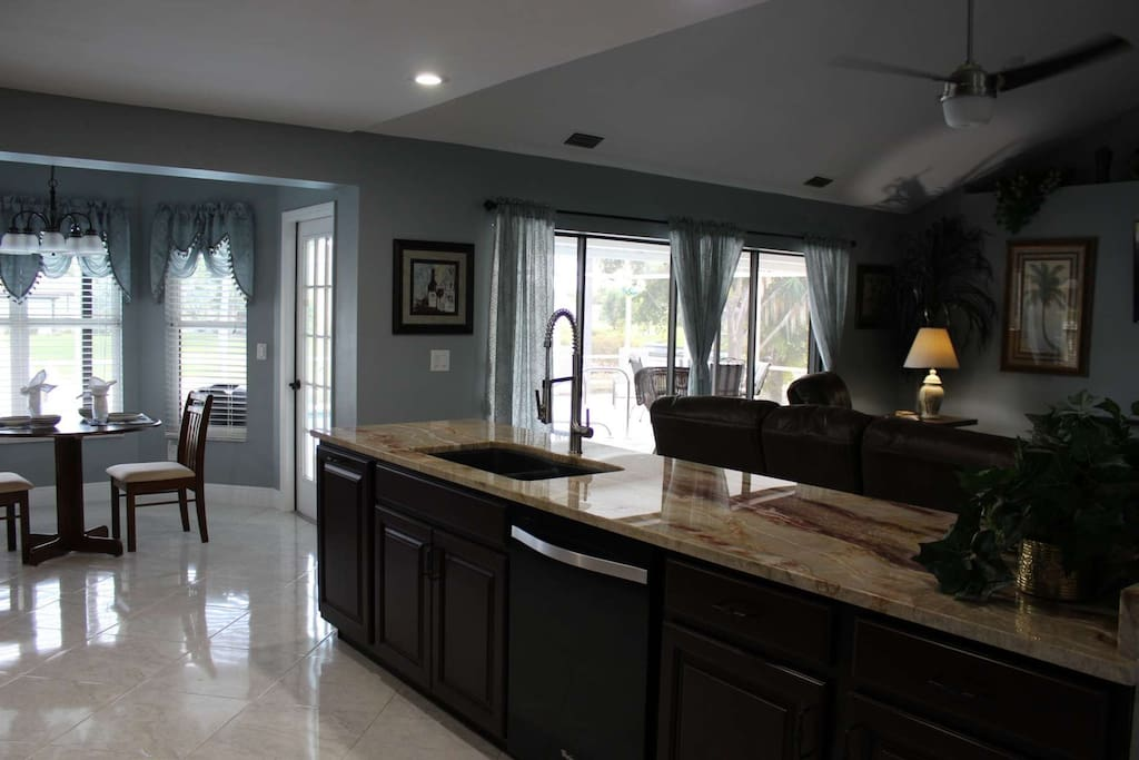 Large Open kitchen to keep the conversation open for your guests or family