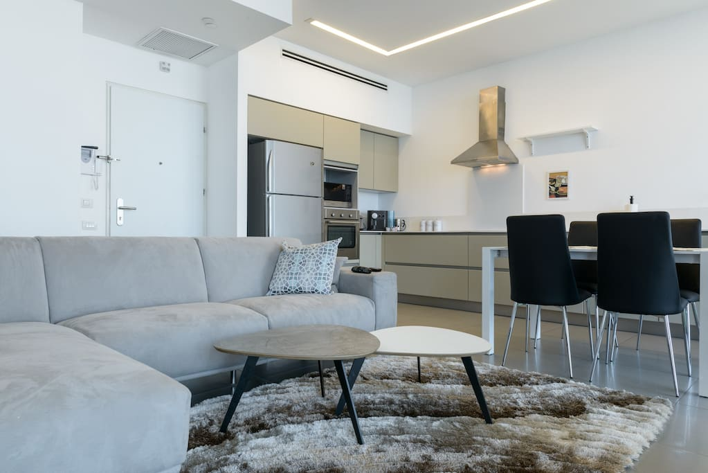 Open space living room + kitchen