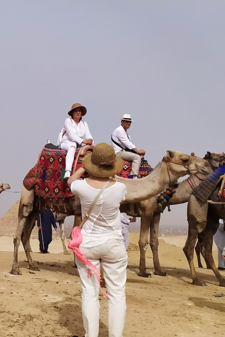 FAMILY TRIP WITH THE CAMEL RIDE IN PYRAMIDS diamond safary THE BEST SAFARY TOUR DURATION FIVE HOURS