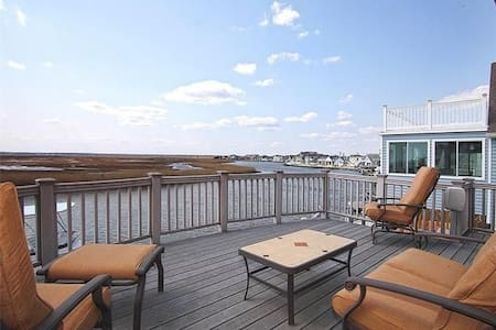 Waterfront w/ Dock, Magnificent Views-Just off LBI