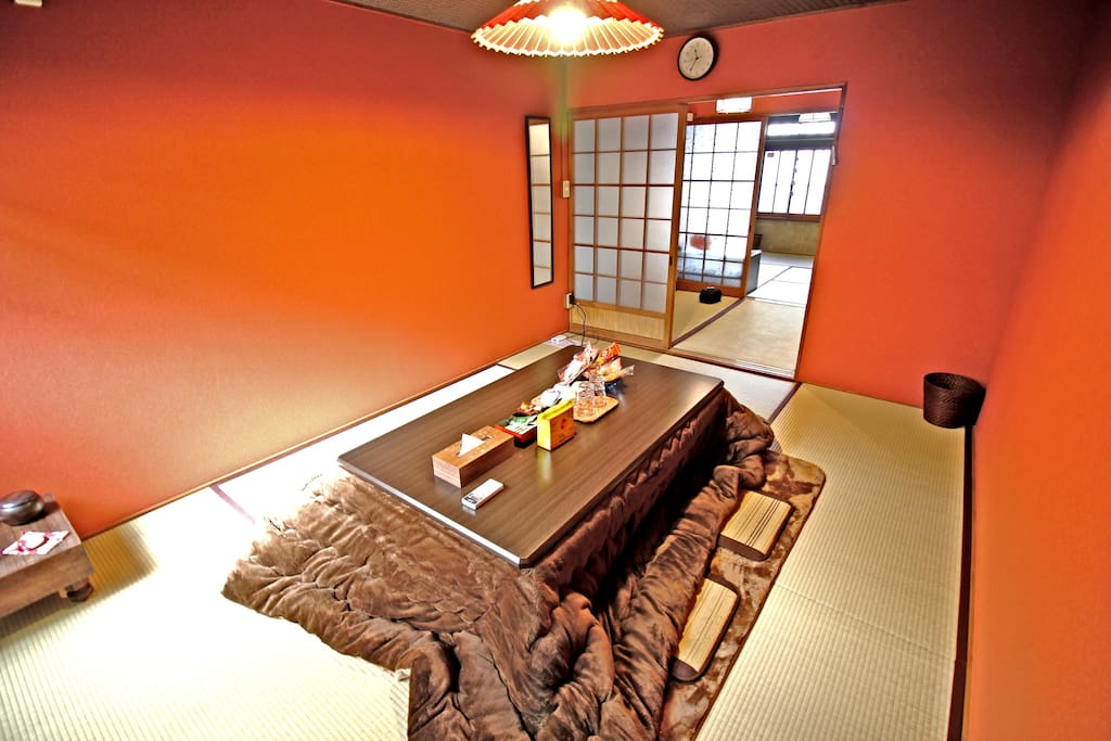 Just for Winter SPECIAL! You can enjoy Kotatsu :)