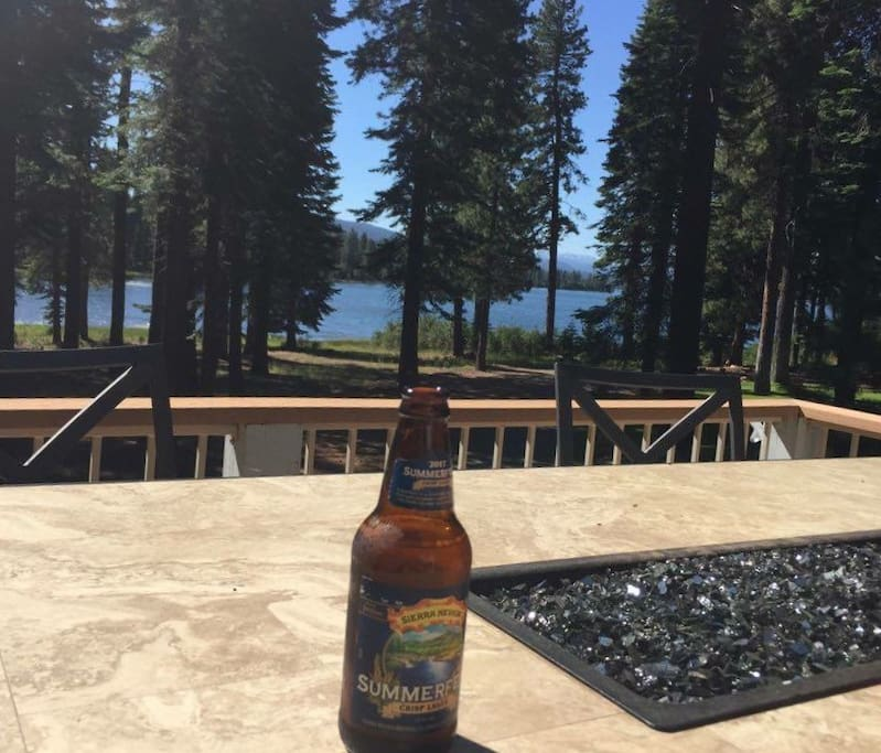 Enjoy a cold one while taking in the view from your private deck over looking Goose Bay!