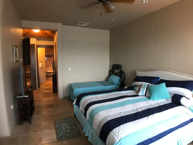 Another view of the master bedroom with the master bath directly ahead.