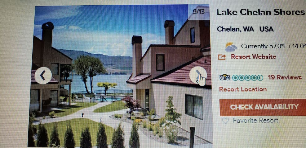 Lake Chelan Shores Resort  Oct 11 /Oct 18 2019