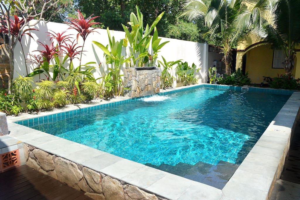 Natural Salt Water swimming pool literally at your doorstep