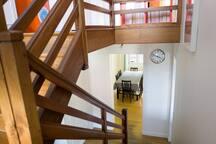 Palier entre 1er et 2ème étage