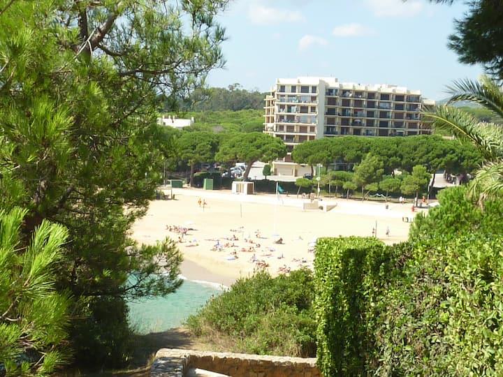 Appartement dans résidence accès direct plage