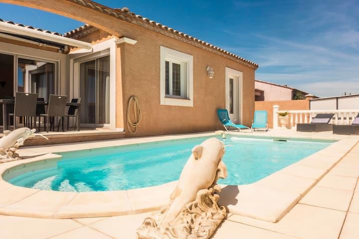 Espléndida villa con piscina en Sallèles-d'Aude