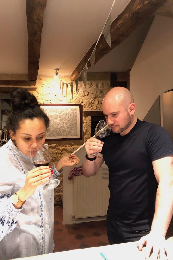 Guests tasting