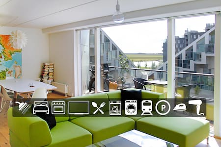 Cooles Appartement in das 8-Haus (Natur + Stadt) - Copenhaguen - Pis